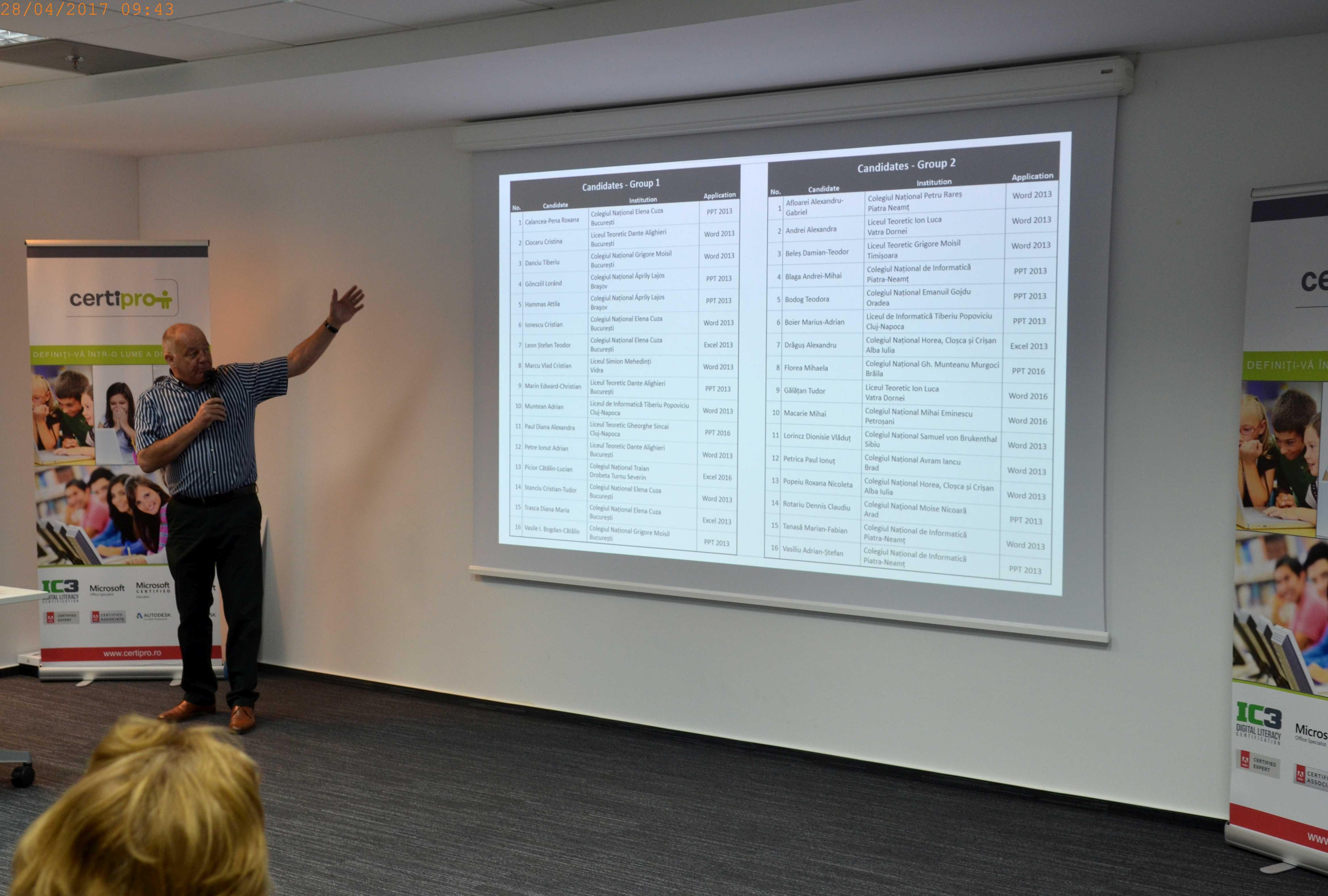 Image of David Ford explaining exam groups