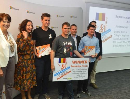 România și-a ales reprezentantul la Campionatul Mondial Microsoft Office Specialist 2017