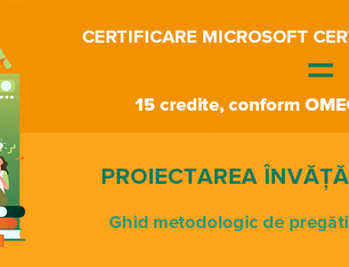Fundația EOS, Certipro Education și Microsoft România, lansează un nou program pentru dezvoltarea competențelor digitale în rândul cadrelor didactice